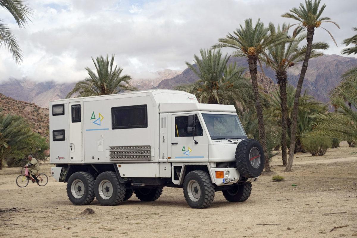 Bucher Duro 6x6 Reisemobil in Marokko 2015